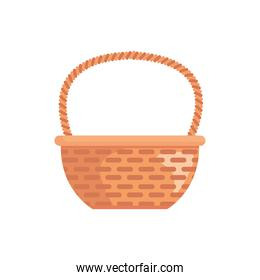 basket straw easter decoration isolated icon