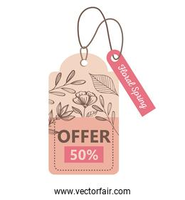 sale spring season deals tags hanging icons