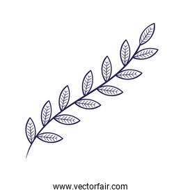 branch with leafs nature plant icon
