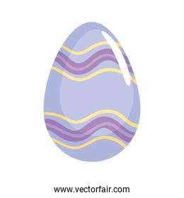 happy easter season lilac egg painted with waves