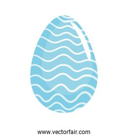 happy easter season blue egg painted with waves