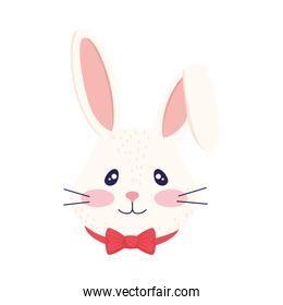 cutle little rabbit with bowtie head easter character