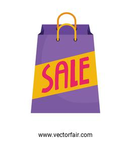 shopping bag with sale word icon