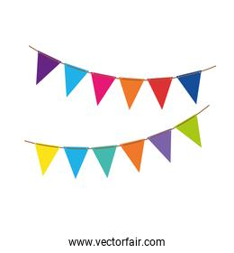 party garlands colorful hanging icon