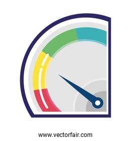 customer satisfaction gauge measure with colors