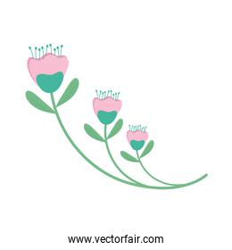 cute roses flowers garden icon