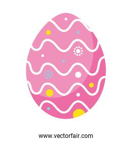happy easter pink egg paint with waves