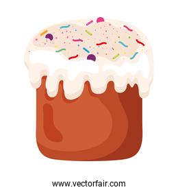 sweet cupcake easter food icon
