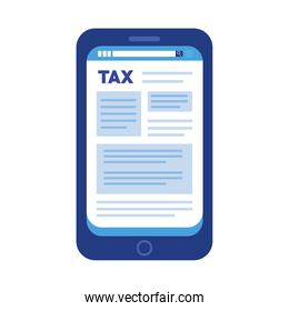 tax day in smartphone ecommerce icon