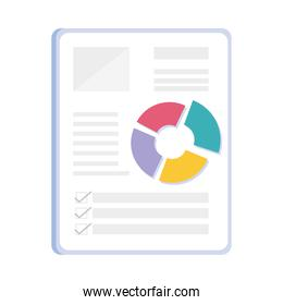 statistics financial documents paper icon