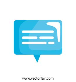 blue speech bubble social media icon