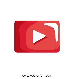 media player button red icon