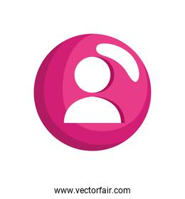 user social media profile icon