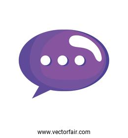 purple speech bubble social media icon
