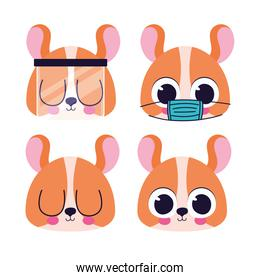bundle of cute dogs stickers