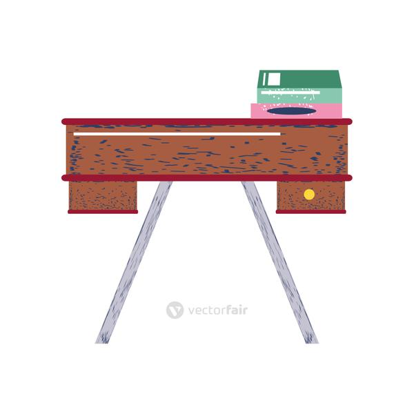 desk with books furniture workspace