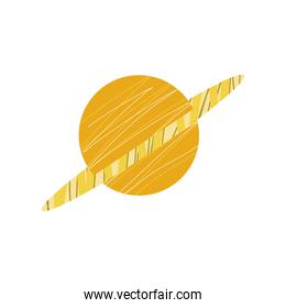 space saturn planet solar system icon isolated vector