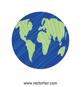 space earth planet solar system icon isolated vector