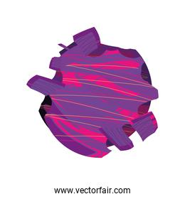 abstract space galaxy cosmos icon isolated vector