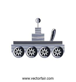 space rover scientific research icon isolated vector