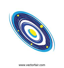 space spiral galaxy and starry icon isolated vector