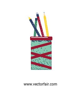 pencils in cup supplies stationery