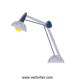 desk lamp light icon flat vector