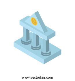 bank money safety investment business icon isometric style