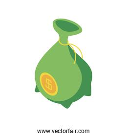 money bank currency investment icon isometric style