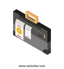 tax day, business briefcase document icon style