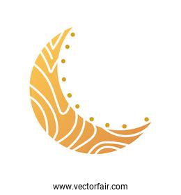 half moon decoration abstract style icon vector