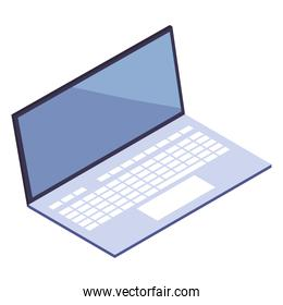 laptop computer device technology icon isometric style