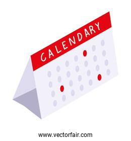 calendar reminder planning icon isometric style
