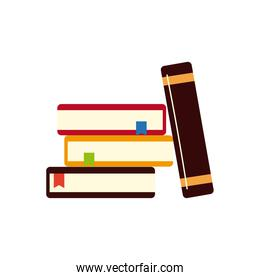 books read learn education isolated design