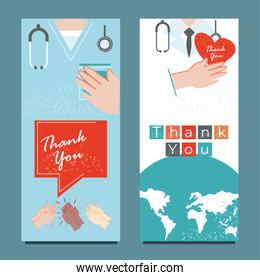 thanks you, world medical staff fighting during covid 19