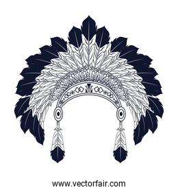 feathers native crown tribal style icon