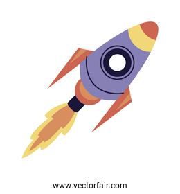 rocket start up flying space icon