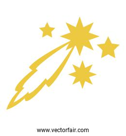 shooting stars space isolated icon