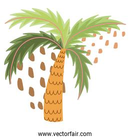 tropical palm tree foliage exotic abstract style