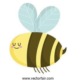 cute cartoon bee insect animal isolated style