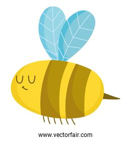 cartoon bee insect animal isolated style isolated style