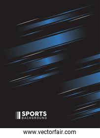 black and blue sport background with lettering white
