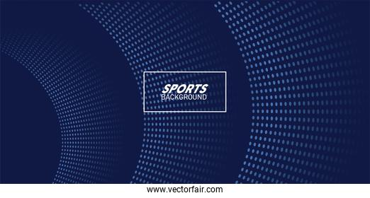 blue sport background with lettering white in square frame