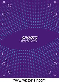 purple and blue sport background with lettering white