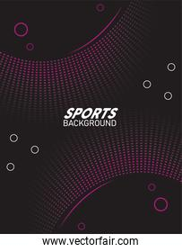 black and purple sport background with lettering white