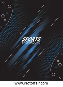 black sport background with lettering white