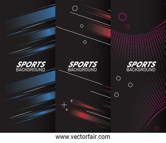 sport backgrounds with lettering white