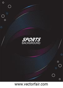 fucshia and blue sport background with lettering white
