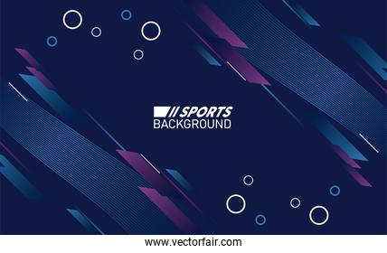 purple and blue sport background with lettering