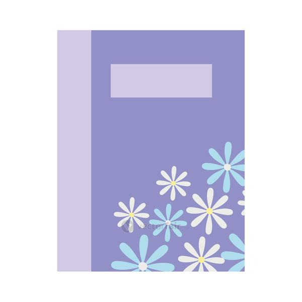 book with floral design, colorful design